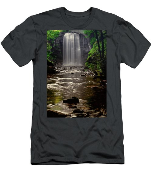 Men's T-Shirt (Slim Fit) featuring the photograph Looking Glass Falls 009 by George Bostian