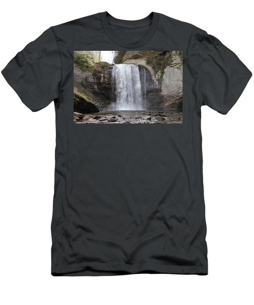 Looking Glass Falls Front View Men's T-Shirt (Athletic Fit)