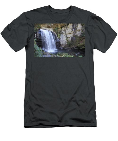 Looking Glass Falls Side View Men's T-Shirt (Athletic Fit)