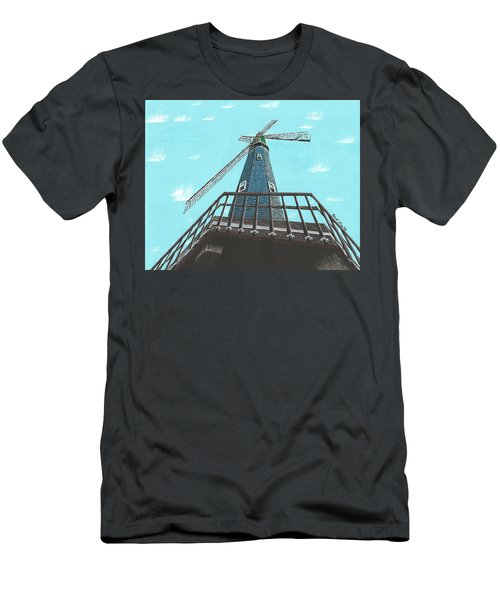 Looking Up At A Windmill Men's T-Shirt (Athletic Fit)