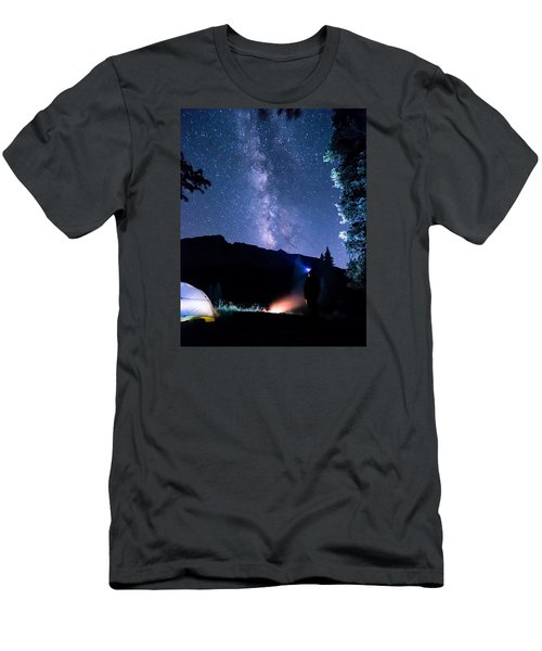 Looking Up At Milky Way Men's T-Shirt (Athletic Fit)