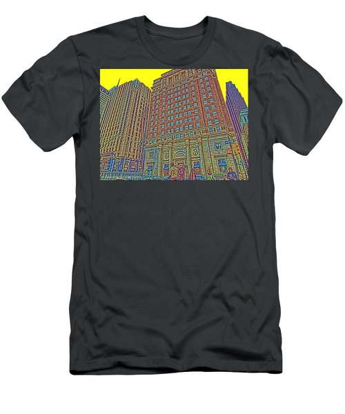 Looking Up In Love Park Men's T-Shirt (Athletic Fit)
