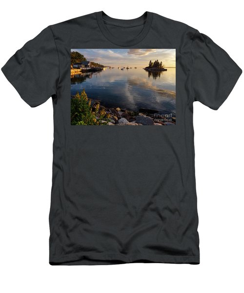 Lookout Point, Harpswell, Maine  -99044-990477 Men's T-Shirt (Slim Fit) by John Bald