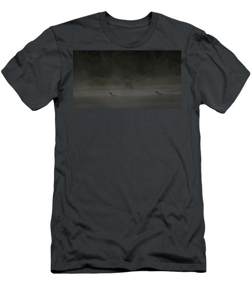 Loon And Moose In The Mist Men's T-Shirt (Athletic Fit)