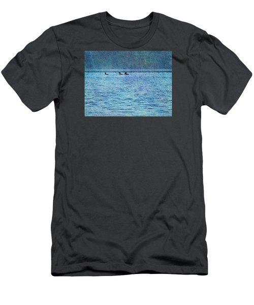 Loons On The Lake Men's T-Shirt (Slim Fit) by Joy Nichols