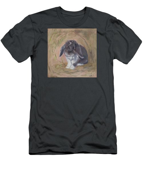 Lop Eared Rabbit- Socks Men's T-Shirt (Athletic Fit)