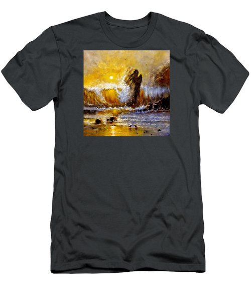 Lost In A Sunset.. Men's T-Shirt (Slim Fit) by Cristina Mihailescu