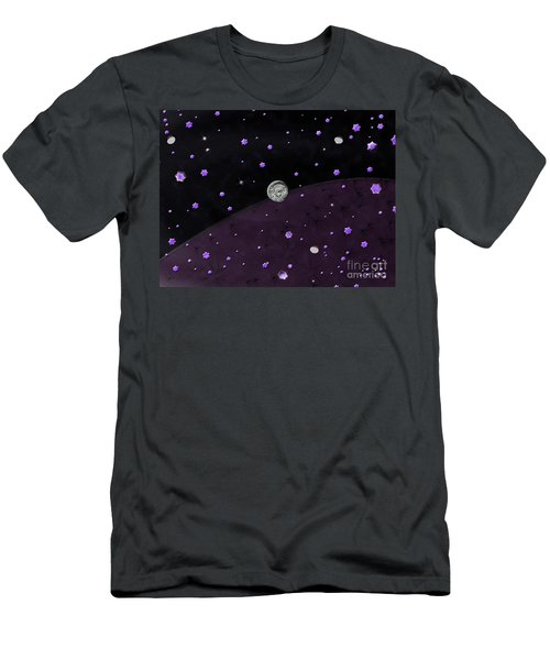 Lost In Midnight Charcoal Stars Men's T-Shirt (Athletic Fit)