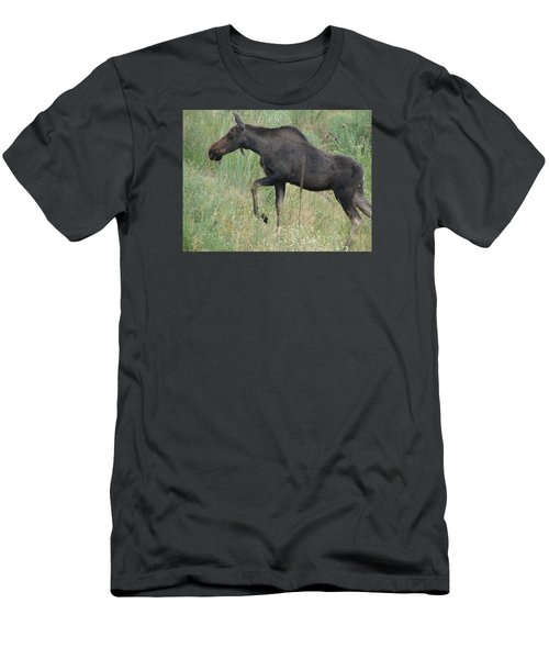 Lost Moose On The Loose In Evergreen Colorado Men's T-Shirt (Athletic Fit)