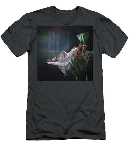Lotus Beauty  Men's T-Shirt (Athletic Fit)