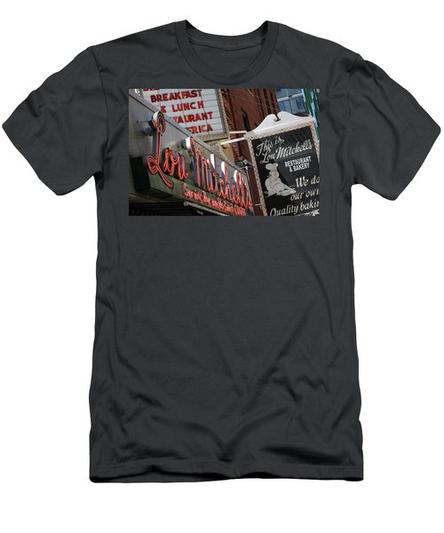 Lou Mitchells Restaurant And Bakery Chicago Men's T-Shirt (Athletic Fit)