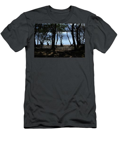 Men's T-Shirt (Slim Fit) featuring the photograph Lough Leane Through The Woods by Aidan Moran