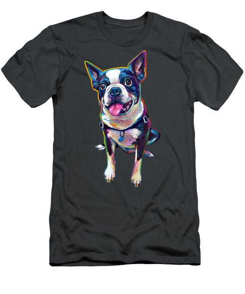 Louie The Boston Terrier Men's T-Shirt (Athletic Fit)