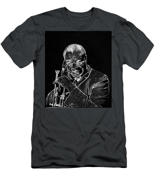 Louis Armstrong Men's T-Shirt (Slim Fit) by Charles Shoup