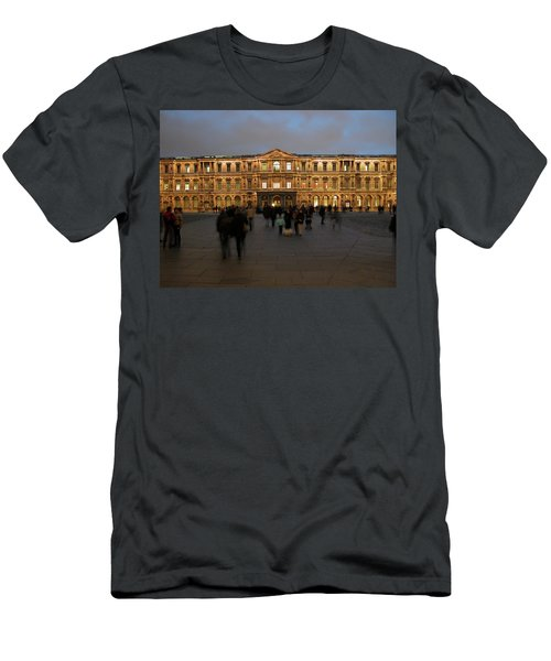 Men's T-Shirt (Slim Fit) featuring the photograph Louvre Palace, Cour Carree by Mark Czerniec