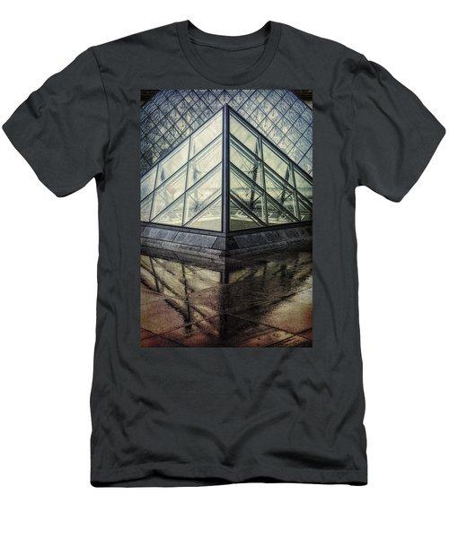 Louvre Pyramids Paris II Men's T-Shirt (Athletic Fit)