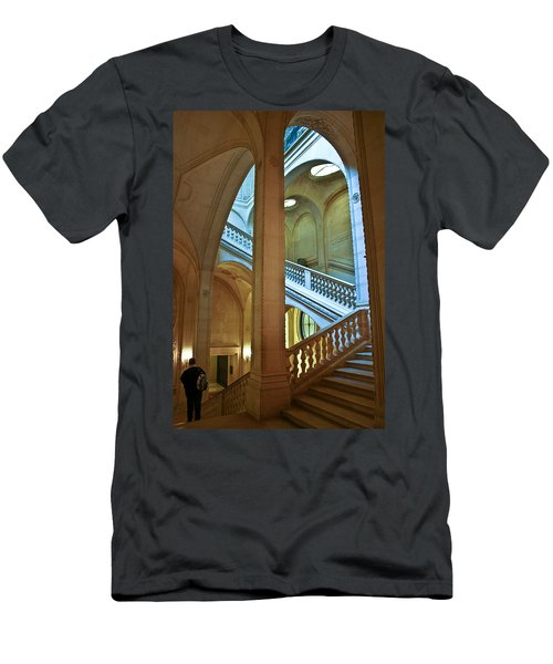 Louvre Stairwell Men's T-Shirt (Athletic Fit)