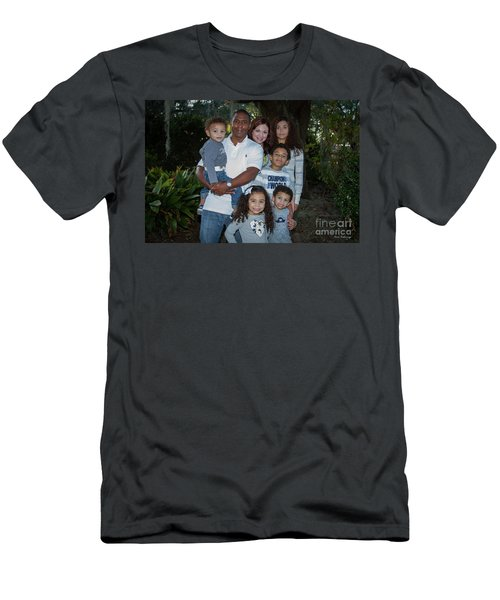 Men's T-Shirt (Slim Fit) featuring the photograph Love Demonstrated 2 James Ingram Family Art by Reid Callaway