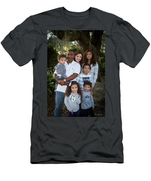 Men's T-Shirt (Slim Fit) featuring the photograph Love Demonstrated James Ingram Family Art by Reid Callaway