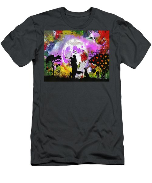 Love Family And Friendship In The Mix Men's T-Shirt (Athletic Fit)