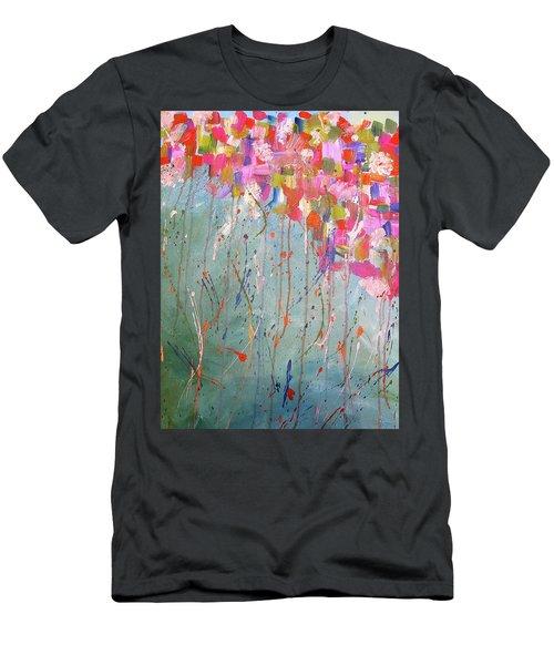 Love Flower Mountain Men's T-Shirt (Athletic Fit)