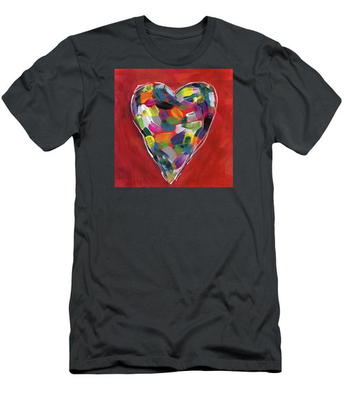 Love Is Colorful - Art By Linda Woods Men's T-Shirt (Athletic Fit)