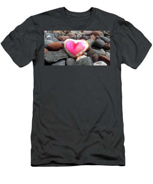 Love On The Rocks Men's T-Shirt (Athletic Fit)