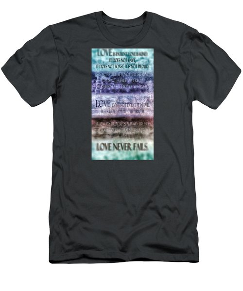 Men's T-Shirt (Slim Fit) featuring the digital art Love Rejoices With The Truth by Angelina Vick