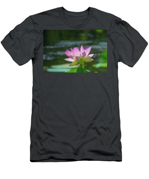Lovely Lotus In Pink Men's T-Shirt (Athletic Fit)
