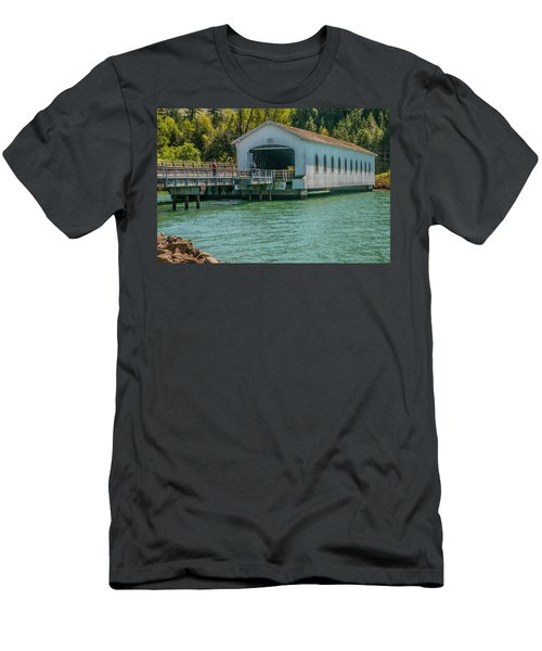 Lowell Covered Bridge Men's T-Shirt (Athletic Fit)