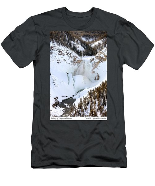 Lower Falls In The Grand Canyon Of The Yellowstone River Men's T-Shirt (Slim Fit) by Carol M Highsmith