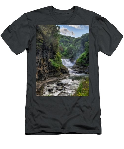 Lower Falls - Summer Men's T-Shirt (Slim Fit) by Mark Papke