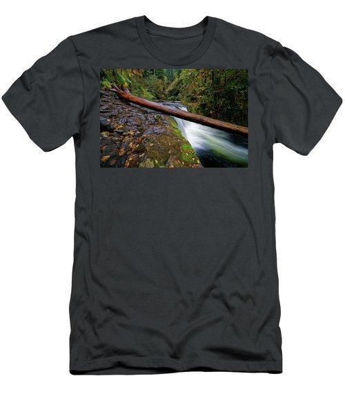 Lower Punch Bowl Falls Men's T-Shirt (Athletic Fit)