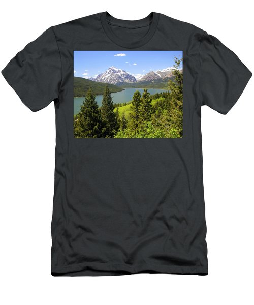 Lower Two Medicine Lake Men's T-Shirt (Athletic Fit)