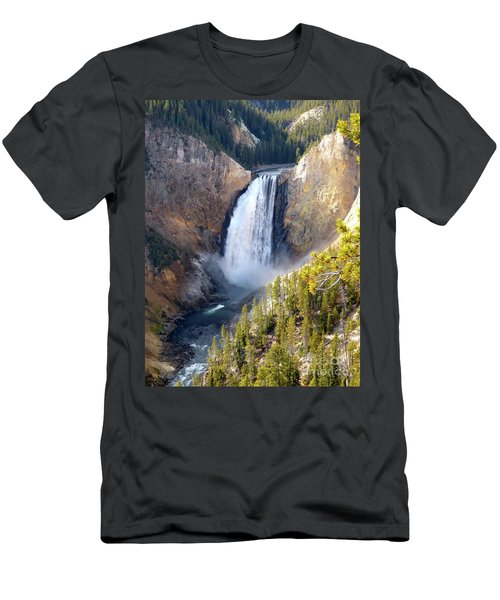 Lower Yellowstone Falls From Inspiration Point Men's T-Shirt (Athletic Fit)
