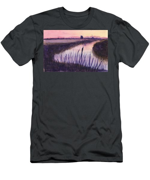 Loxahatchee Sunset Men's T-Shirt (Slim Fit) by Donna Walsh