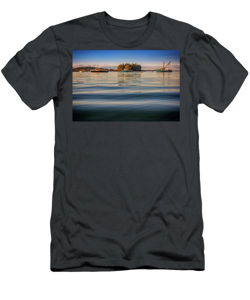 Men's T-Shirt (Athletic Fit) featuring the photograph Lubec Harbor by Rick Berk