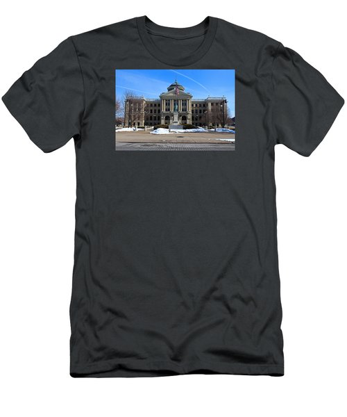 Men's T-Shirt (Slim Fit) featuring the photograph Lucas County Courthouse I by Michiale Schneider