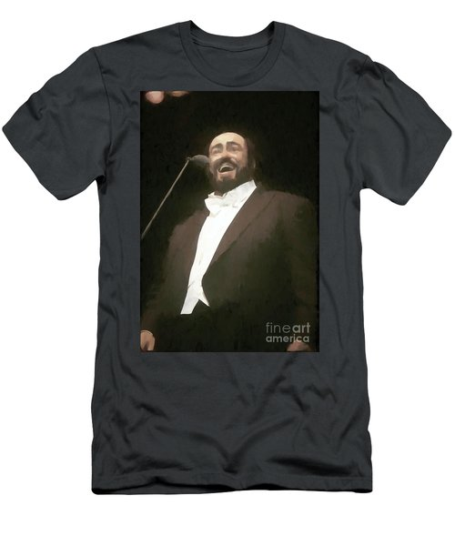 Luciano Pavarotti Painting  Men's T-Shirt (Athletic Fit)