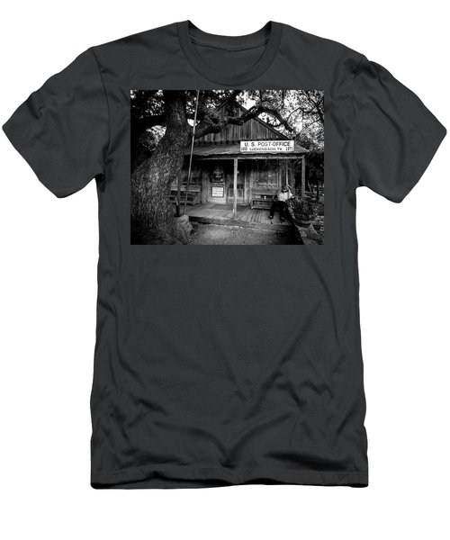 Men's T-Shirt (Athletic Fit) featuring the photograph Luckenbach Texas by David Morefield