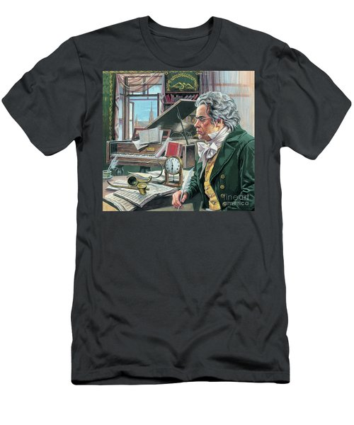 Ludwig Van Beethoven Men's T-Shirt (Athletic Fit)