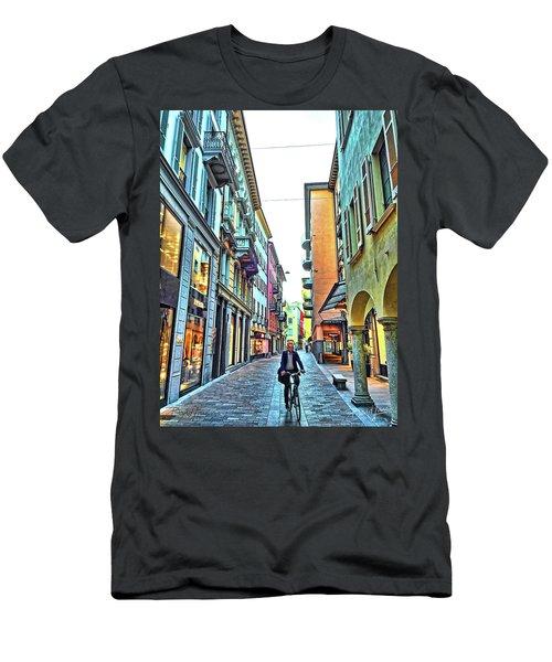 Lugano Switzerland Men's T-Shirt (Athletic Fit)