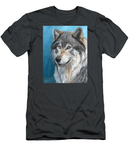 Men's T-Shirt (Slim Fit) featuring the painting Luna by Sherry Shipley