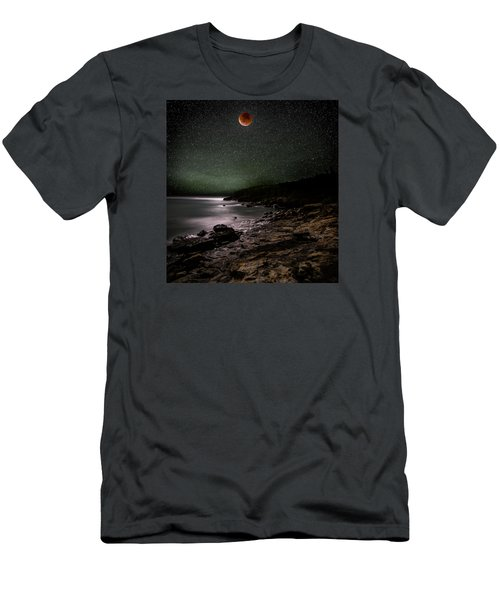 Lunar Eclipse Over Great Head Men's T-Shirt (Slim Fit) by Brent L Ander