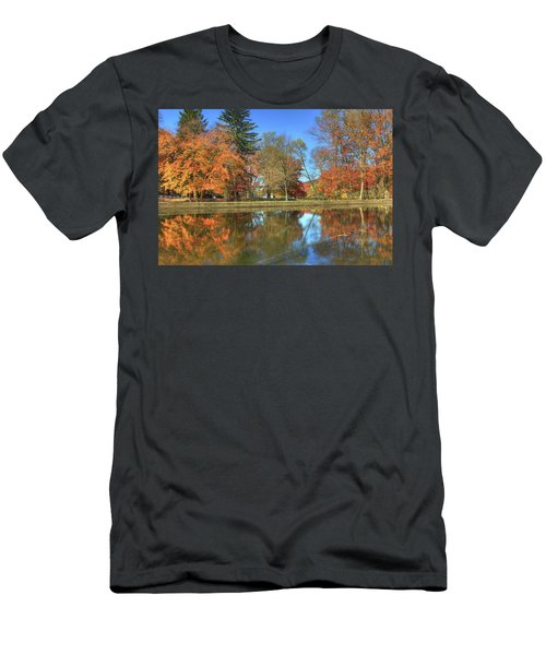 Men's T-Shirt (Slim Fit) featuring the photograph Lykens Glen Reflections by Lori Deiter