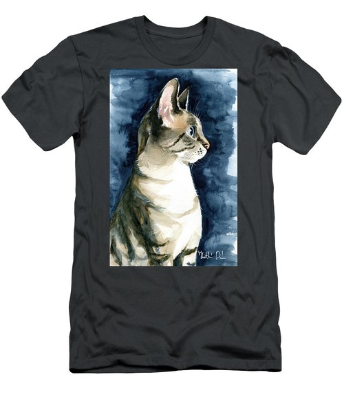 Lynx Point Cat Portrait Men's T-Shirt (Athletic Fit)