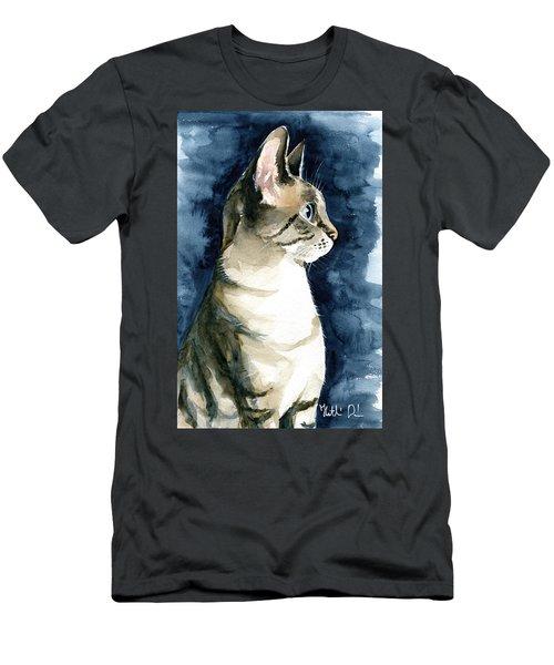 Lynx Point Cat Portrait Men's T-Shirt (Athletic Fit)