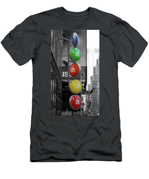 M And Ms In New York City Men's T-Shirt (Athletic Fit)