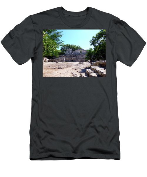 Men's T-Shirt (Athletic Fit) featuring the photograph M Ruin by Francesca Mackenney