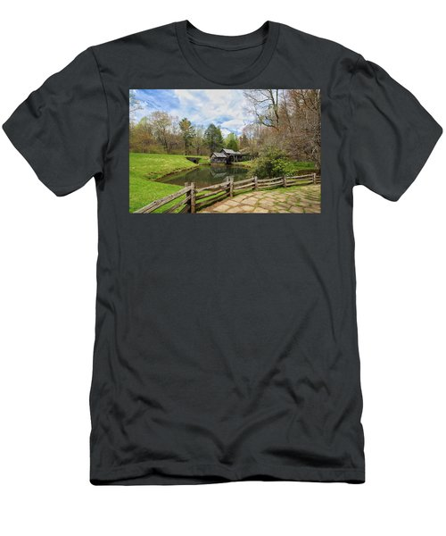 Mabry Mill In The Spring Men's T-Shirt (Athletic Fit)